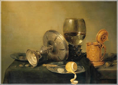 The Flemish breakfasts of 17th century