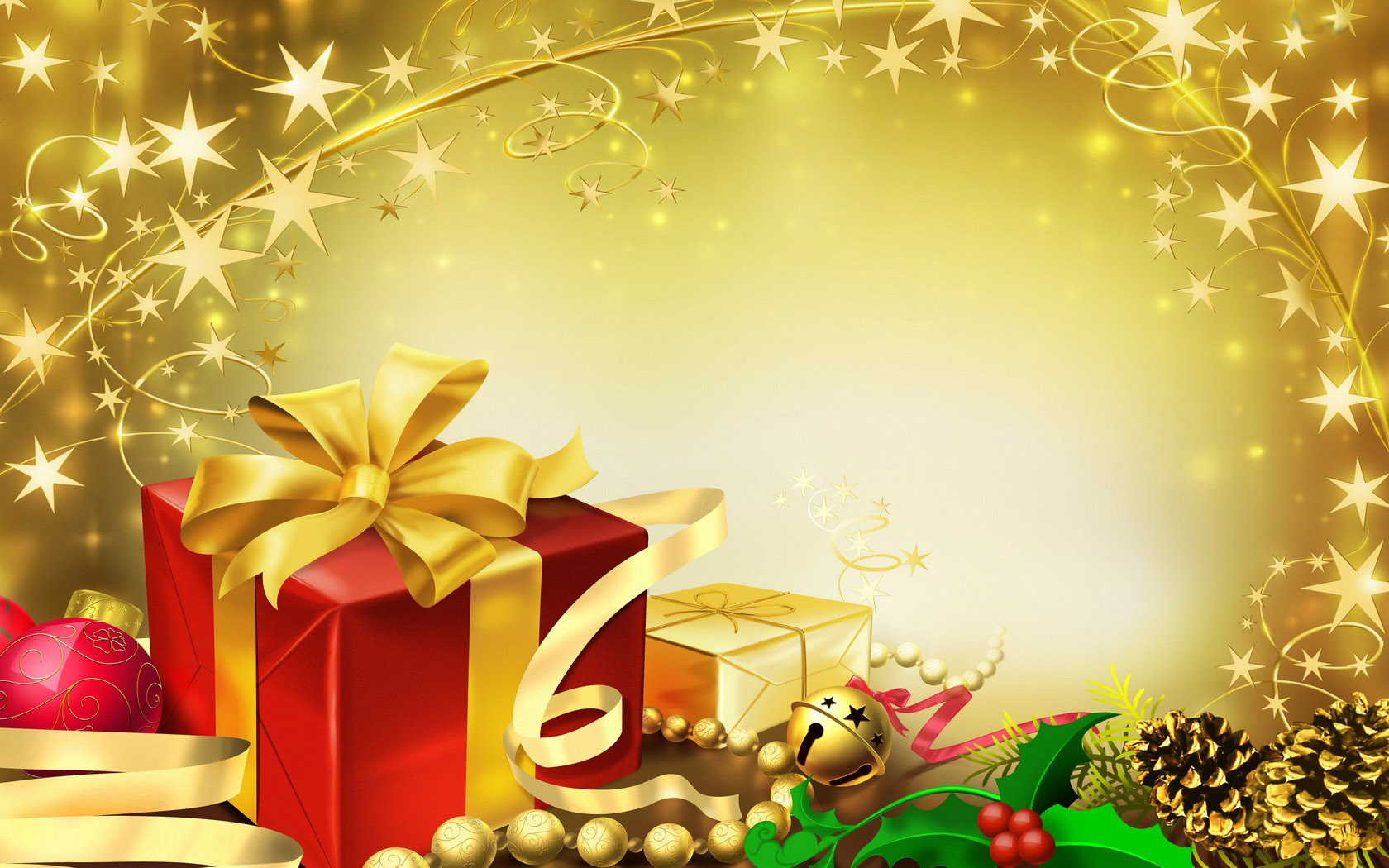 Special christmas gifts in yellow negle Images