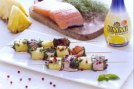 Salmon and Pineapple Skewers