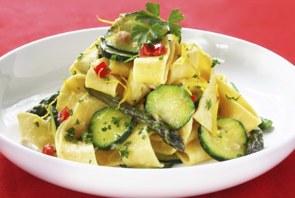 Pappardelle Pasta with Vegetables