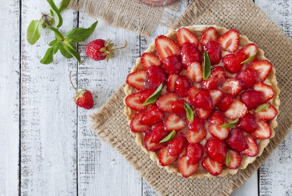 Strawberries and Lemon Cream Tart