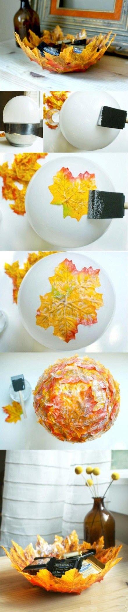 cestino di foglie
