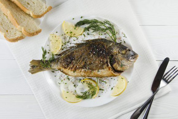 Surf and Turf: Gilt-head Bream with Lemon and Mushrooms