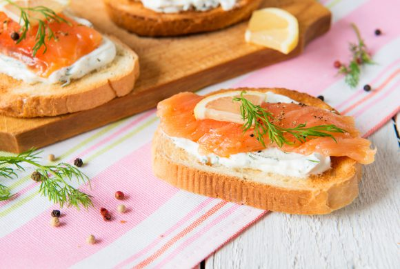 Salmon and Herb Butter Canapés