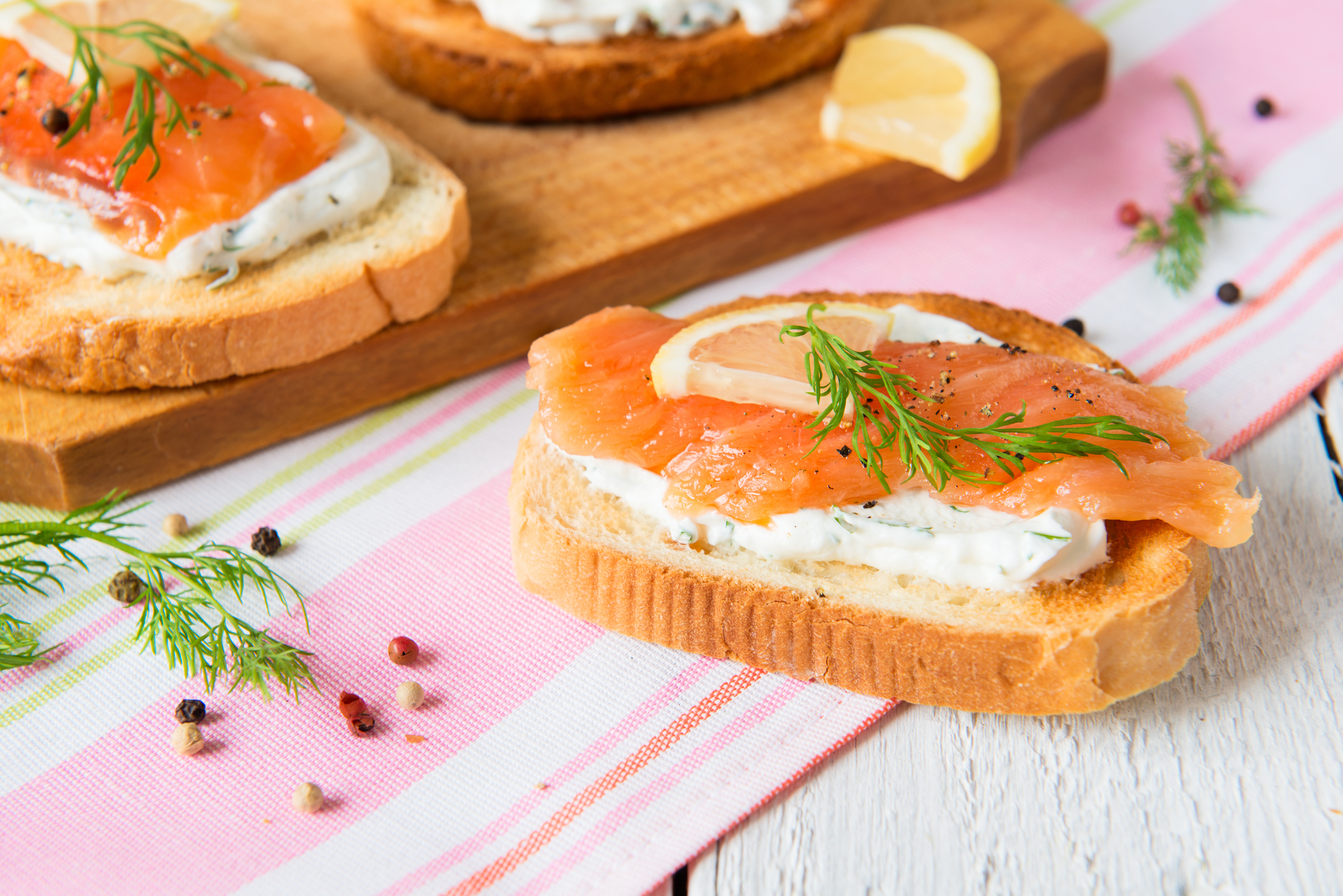 Canap with salmon for Canape history