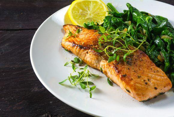 Garlic and Lemon Salmon Steaks