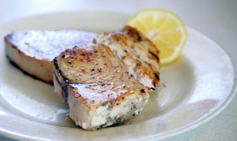 Trancio di pesce spada al limone