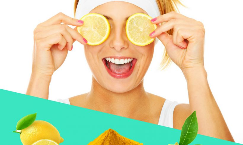 Maschera di bell-essere al limone, curcuma e tè verde