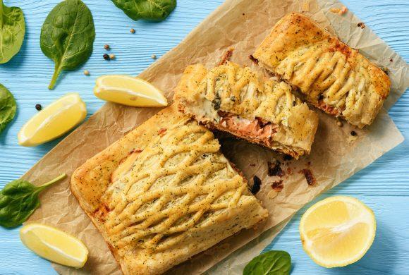 Salmon, Zucchini and Chives Quiche