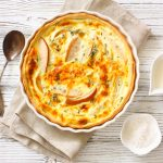 Pears and Fontina Quiche