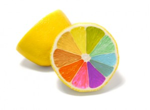 Coloured lemon