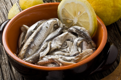 Acciughe marinate al limone
