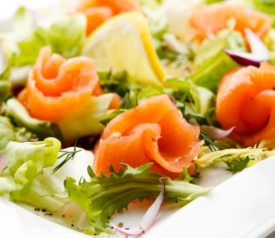 Insalata light con salmone