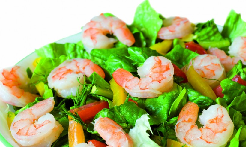 Shrimps and Pineapple Salad