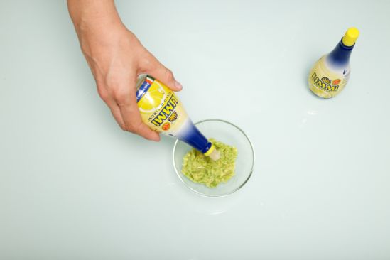 Lemon juice is being added to the ingredients