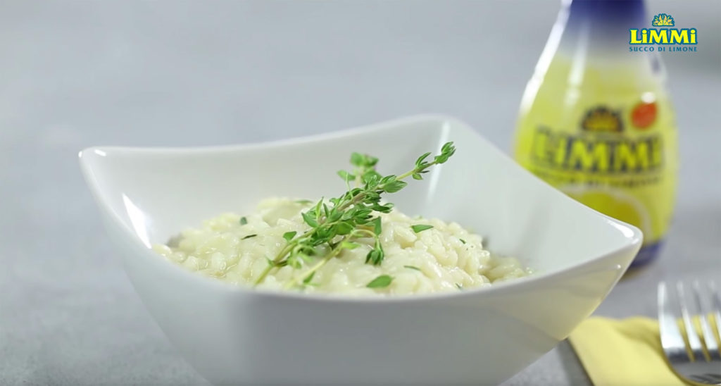 Risotto Lemon, Thyme and Robiola, made with Limmi lemon juice