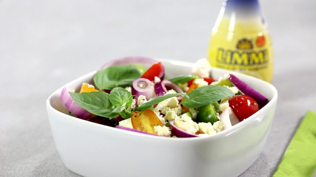 Tomato salad with Limmi lemon juice