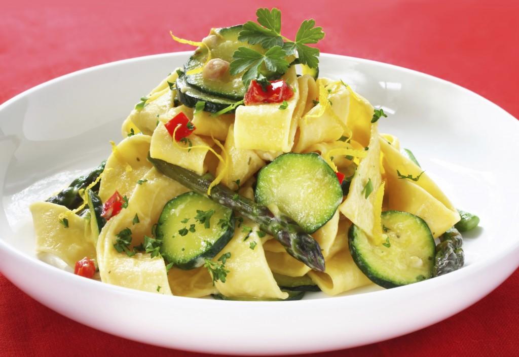 Vegetarian vegetable pappardelle