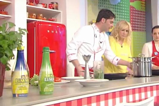 Limmi lemon juice at La Prova del Cuoco TV show on 7th May week's episodes