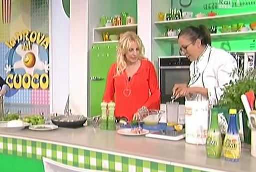 Limmi lemon juice at La Prova del Cuoco TV show on 14th May week's episodes