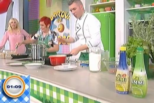 Limmi lemon juice at La Prova del Cuoco TV show on 21st May week's episodes