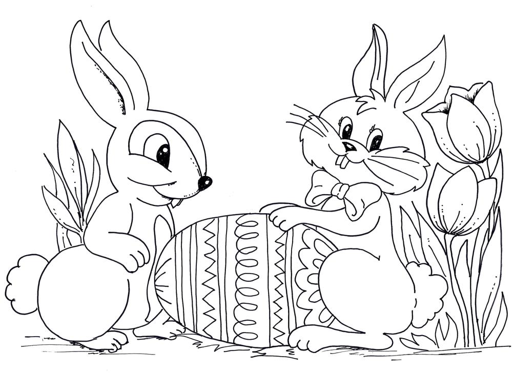 coniglio da colorare