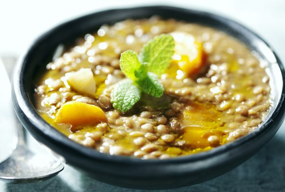 Lentils with Lemon and Mint