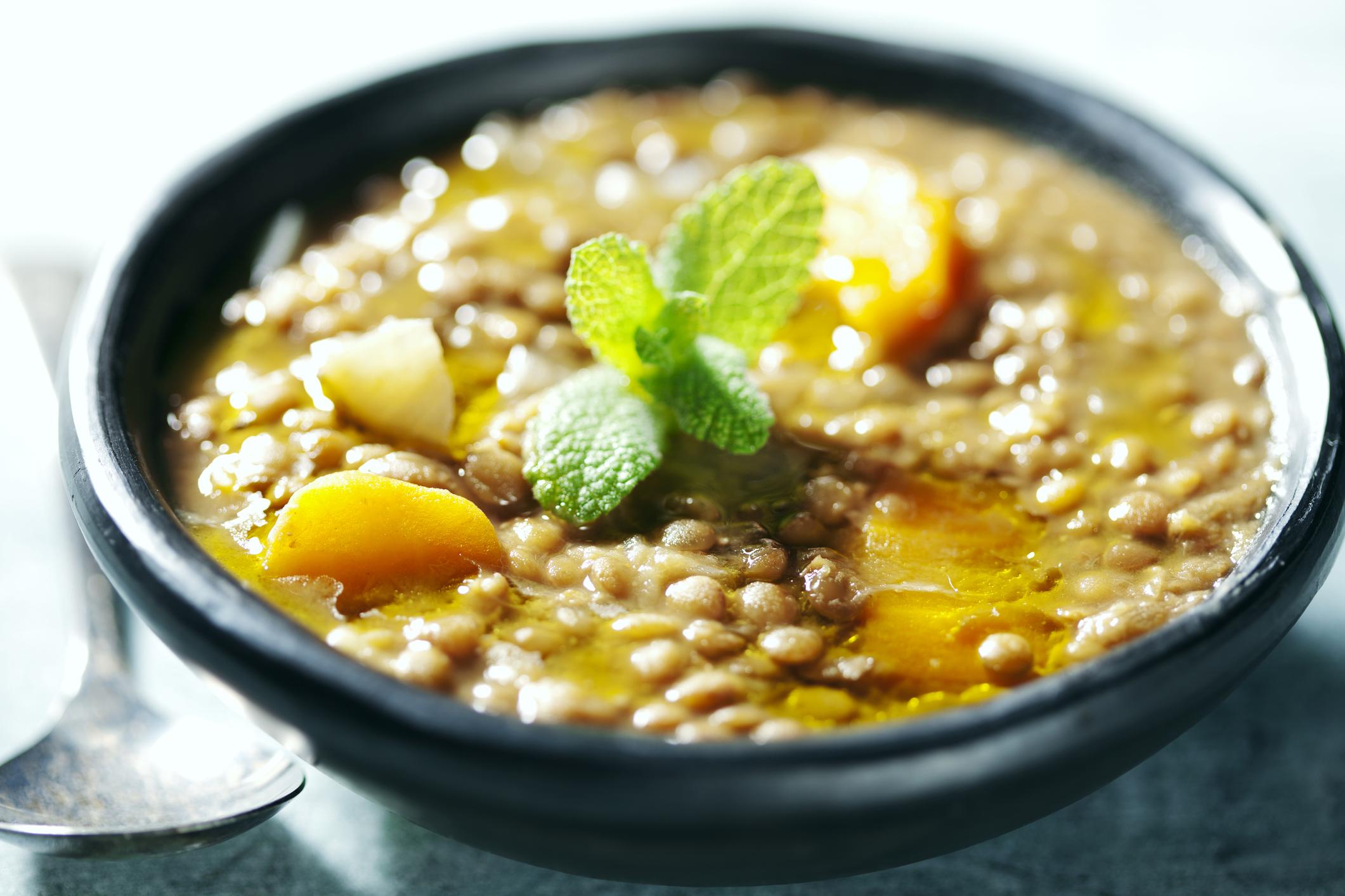 lentils with mint