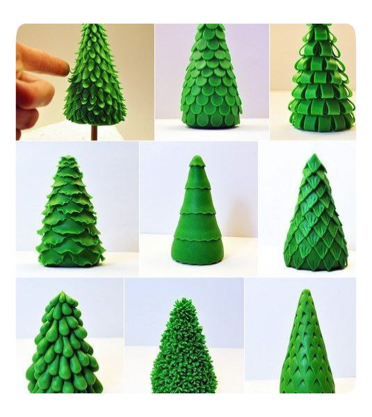 christmas tree sugar paste