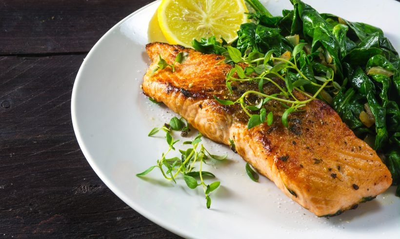 Garlic and Lemon Salmon Steaks