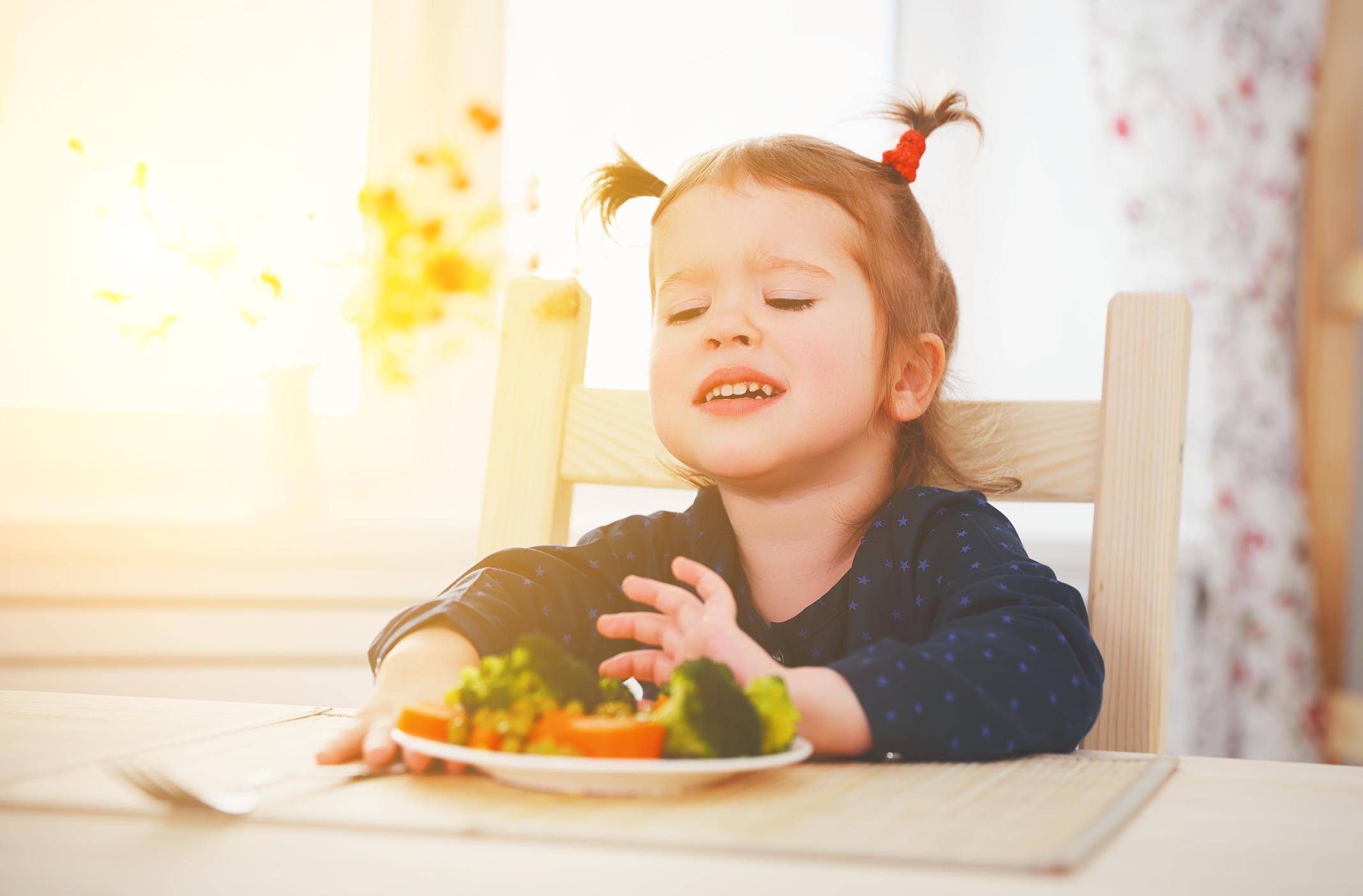 bambini non vogliono le verdure