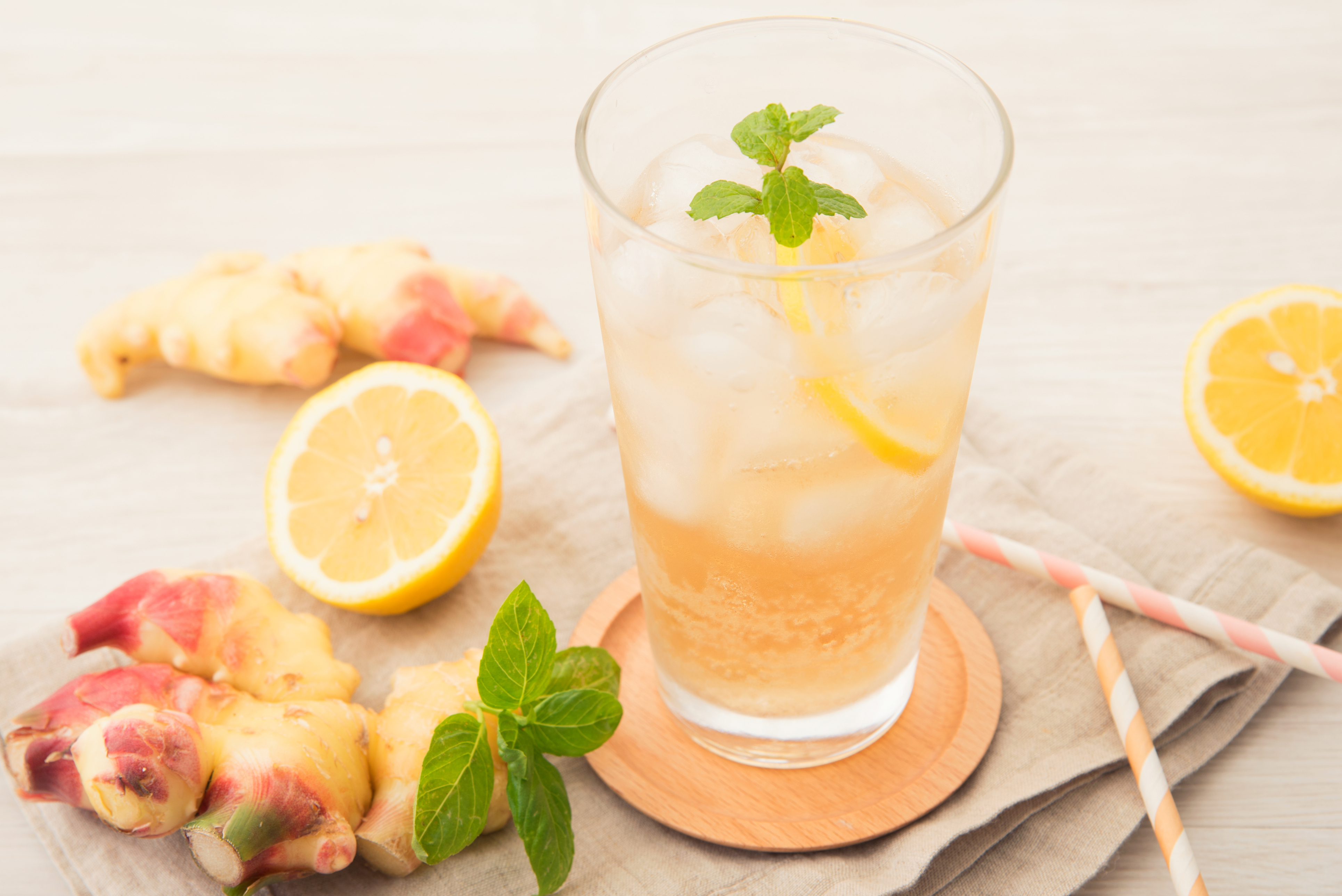 Lemon, Ginger and Mint Infusion