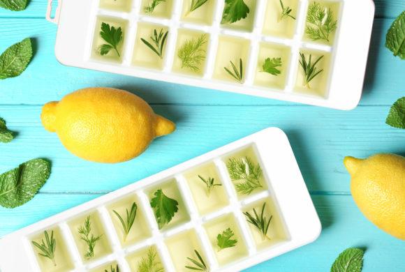 Cubetti di ghiaccio al limone