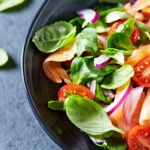Salmon, Rocket and Almonds Salad