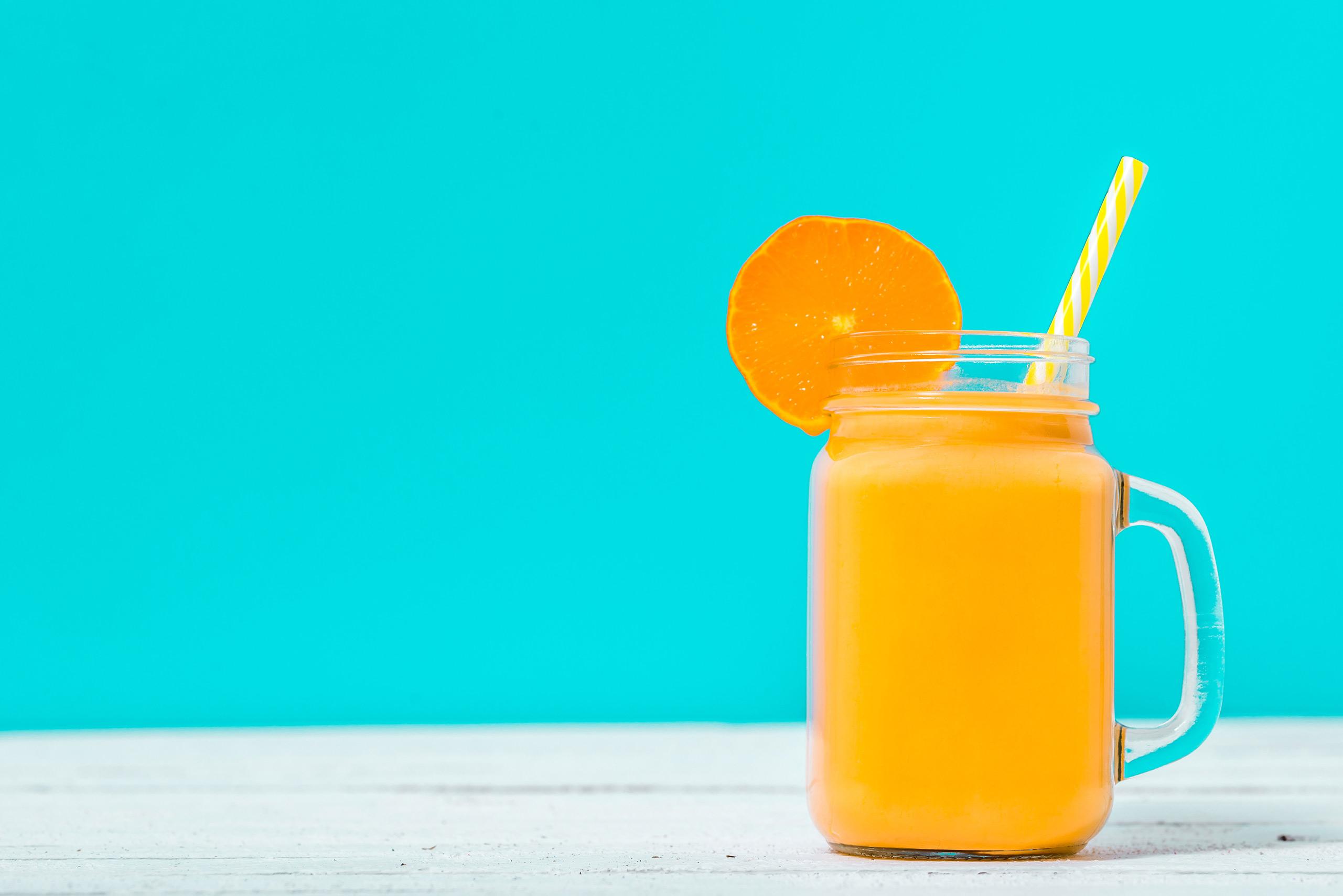 frullato arancia banana e limone