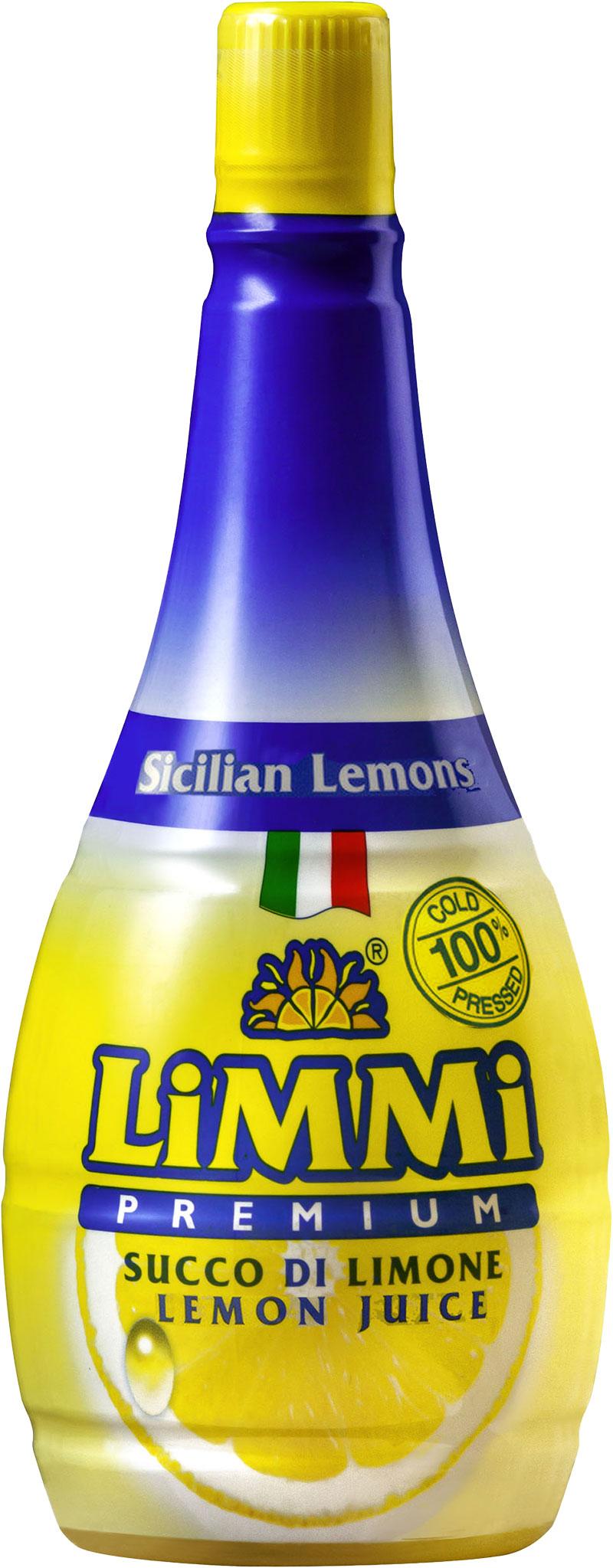 The Limmi Premium lemon juice bottle