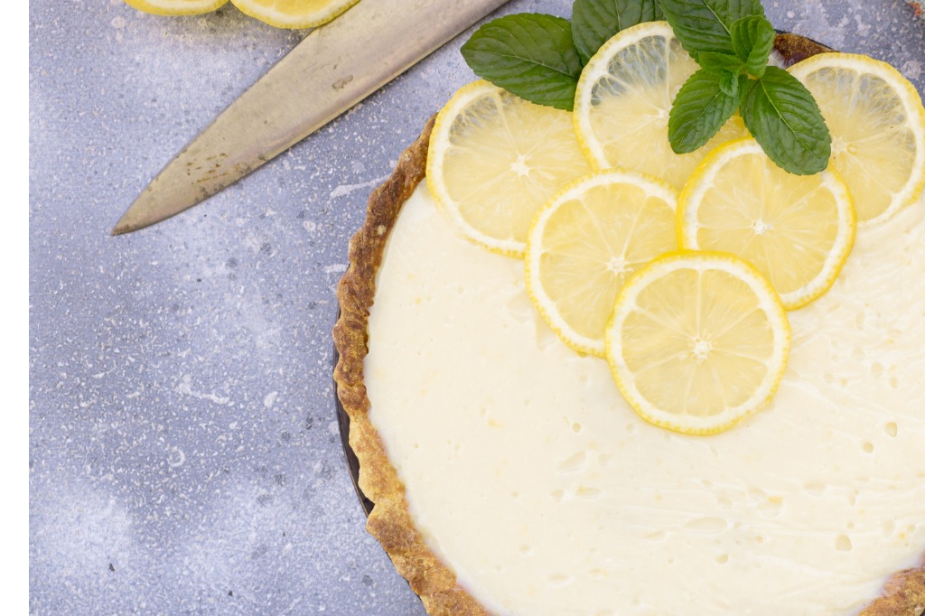 Eggs-free lemon custard